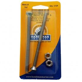 Handi-Man Phillips Machine Oval Screw - 1-4-20 x 4