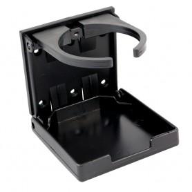 Innovative Lighting Adjustable Fold-Down Cup Holder - No Hardware - Black
