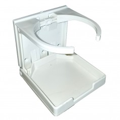 Innovative Lighting Adjustable Fold-Down Cup Holder - No Hardware - White
