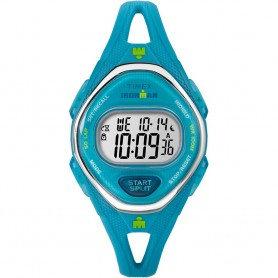 Timex IRONMAN Sleek 50 Mid-Size Silicone Watch - Turquoise