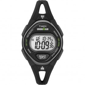 Timex IRONMAN Sleek 50 Mid-Size Silicone Womens Watch - Black