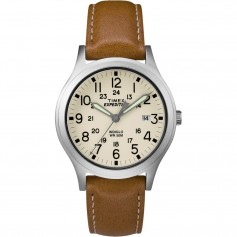 Timex Expedition Mid-Size Leather Watch - Cream Dial