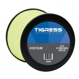 Tigress High- Visibility 50lb Kite Braid - Yellow