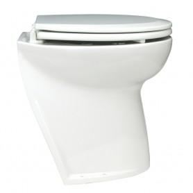 Jabsco Deluxe Flush Electric Toilet - Fresh Water - Angled Back