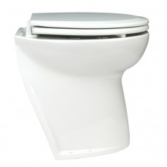 Jabsco Deluxe Flush Electric Toilet - Fresh Water - Angled Back