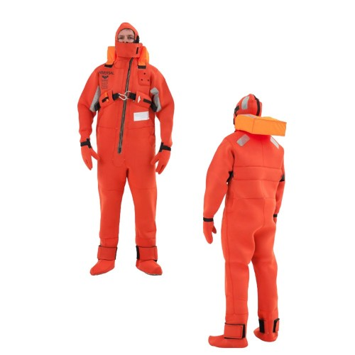VIKING Immersion Rescue I Suit USCG-SOLAS w-Buoyancy Head Support - Neoprene Orange - Adult Universal