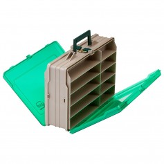 Plano Double-Sided 19-Compartment Satchel - Sandstone Green