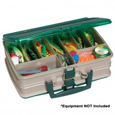 Plano Double-Sided 20-Compartment Satchel - Sandstone-Green