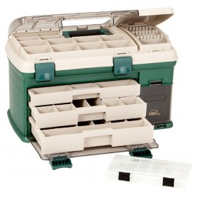 Plano 3-Drawer Tackle Box XL - Green-Beige