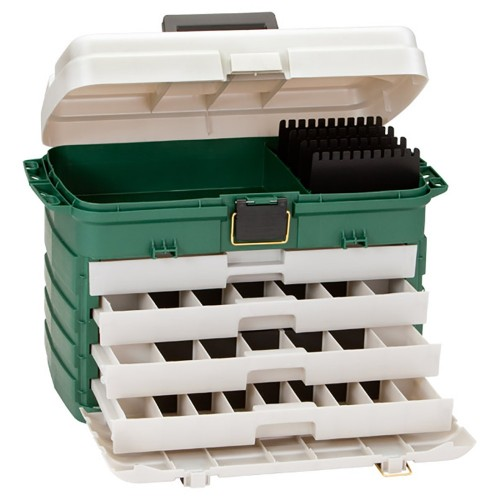 Plano 4-Drawer Tackle Box - Green Metallic-Silver