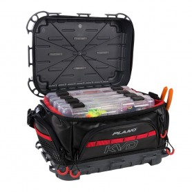 Plano KVD Signature Tackle Bag 3600 - Black-Grey-Red