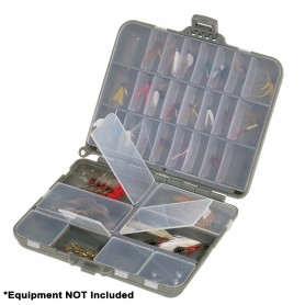 Plano Compact Side-By-Side Tackle Organizer - Grey-Clear