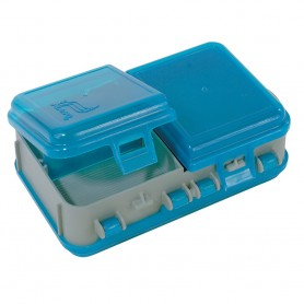 Plano Double-Sided Adjustable Tackle Organizer Small - Silver-Blue