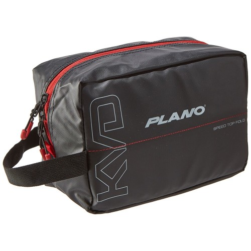 Plano KVD Wormfile Speedbag Small - Holds 20 Packs - Black-Grey-Red