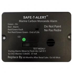 Safe-T-Alert 62 Series Carbon Monoxide Alarm w-Relay - 12V - 62-542-R-Marine - Flush Mount - Black