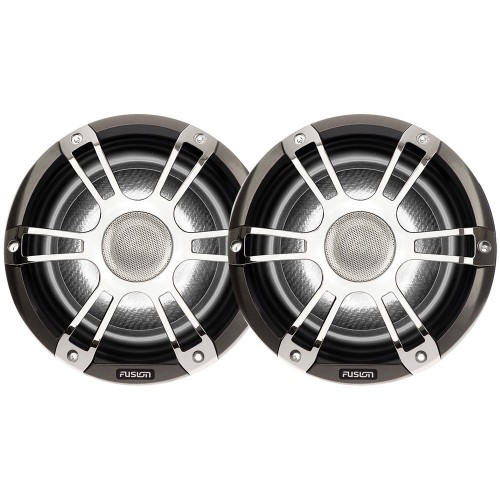 FUSION SG-CL65SPC Signature Series Speakers 6-5- Grill - 230 W -Silver-Chrome