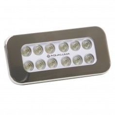 Aqualuma Flush Mount Spreader Light 12 LED - Stainless Steel Bezel