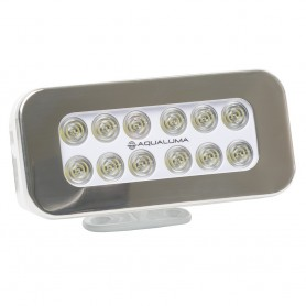 Aqualuma Bracket Mount Spreader Light 12 LED - Stainless Steel Bezel