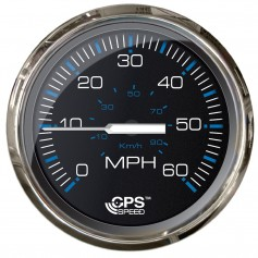 Faria Chesepeake Black SS 4- Studded Speedometer - 60MPH -GPS-