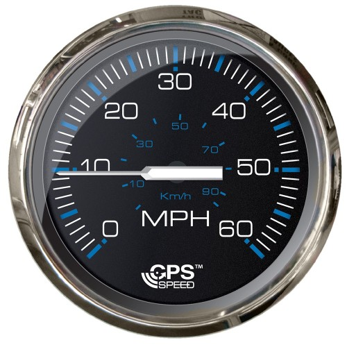 Faria Chesepeake Black SS 4- Studded Speedometer - 60MPH -GPS-