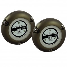Lumitec SeaBlaze Mini - Underwater Light - Pair - Brushed Finish - Blue Non-Dimming