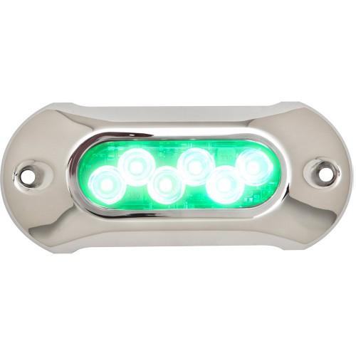 Attwood Light Armor Underwater LED Light - 6 LEDs - Green