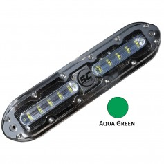 Shadow-Caster SCM-10 LED Underwater Light w-20- Cable - 316 SS Housing - Aqua Green