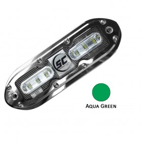 Shadow-Caster SCM-6 LED Underwater Light w-20- Cable - 316 SS Housing - Aqua Green