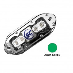 Shadow-Caster SCM-4 LED Underwater Light w-20- Cable - 316 SS Housing - Aqua Green