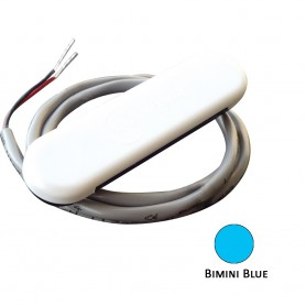 Shadow-Caster Courtesy Light w-2- Lead Wire - White ABS Cover - Bimini Blue - 4-Pack