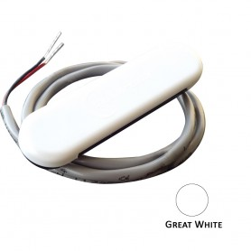 Shadow-Caster Courtesy Light w-2- Lead Wire - White ABS Cover - Great White - 4-Pack