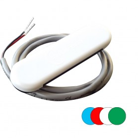 Shadow-Caster Courtesy Light w-2- Lead Wire - White ABS Cover - RGB Multi-Color - 4-Pack