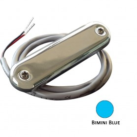 Shadow-Caster Courtesy Light w-2- Lead Wire - 316 SS Cover - Bimini Blue - 4-Pack