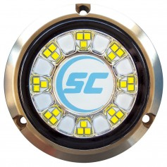 Shadow-Caster SCR-24 Bronze Underwater Light - 24 LEDs - Bimini Blue-Great White