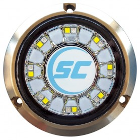 Shadow-Caster Blue-White Color Changing Underwater Light - 16 LEDs - Bronze