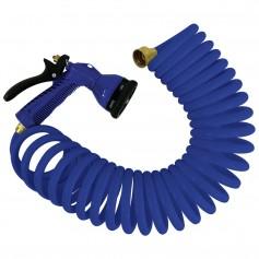 Whitecap 25 Blue Coiled Hose w-Adjustable Nozzle