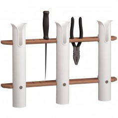 Whitecap Teak 3-Rod Tournament Storage Rack