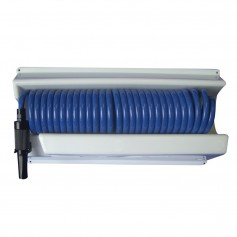 Whitecap 25 Blue Coiled Hose w-Mounting Case