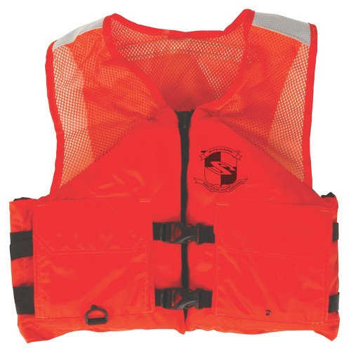Stearns Work Zone Gear Life Vest - Orange - Large