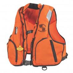 Stearns Manual Inflatable Vest w-Nomex Fabric - Orange-Black - S-M