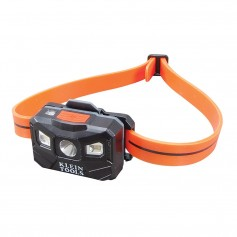 Klein Tools Rechargeable Auto-Off Headlamp w-USB - Black-Orange
