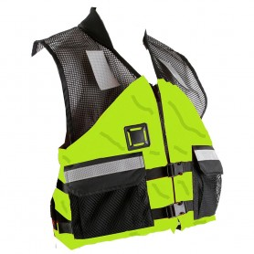 First Watch AV-500 Industrial Mesh Vest -USCG Type III- - Hi-Vis Yellow-Black - X-Large