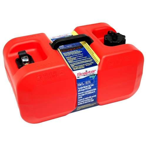Scepter Under Seat Portable Fuel Tank - 6 Gallon