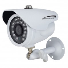 Speco HD-TVI 2MP Color Waterproof Marine Bullet Camera w-IR- 10 Cable- 3-6mm Lens- White Housing
