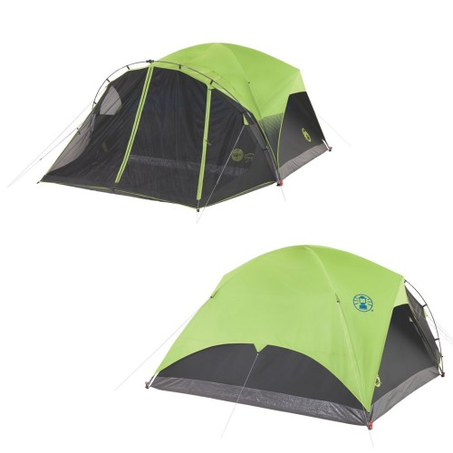 Coleman 6-Person Darkroom Fast Pitch Dome Tent w-Screen Room