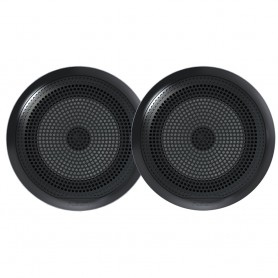 FUSION EL-F651B EL Series Full Range Shallow Mount Marine Black Speakers - 6-5- w- LED Lights