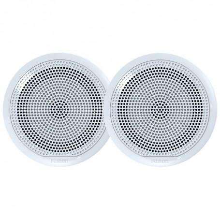FUSION EL-F651W EL Series Full Range Shallow Mount Marine White Speakers - 6-5- w- LED Lights