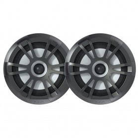 FUSION EL-F651B EL Series Full Range Shallow Mount Marine Grey Speakers - 6-5- w- LED Lights
