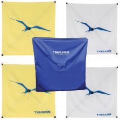 Tigress Kite Kit - 2-All Purpose Yellow- 2-Specialty White Storage Bag