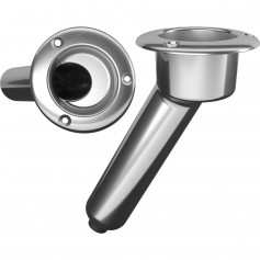 Mate Series Stainless Steel 30 Rod Cup Holder - Drain - Round Top